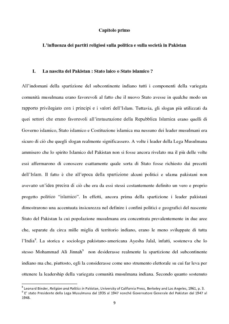 Anteprima della tesi: Islam, ideologia e sfera pubblica in Pakistan, Pagina 5