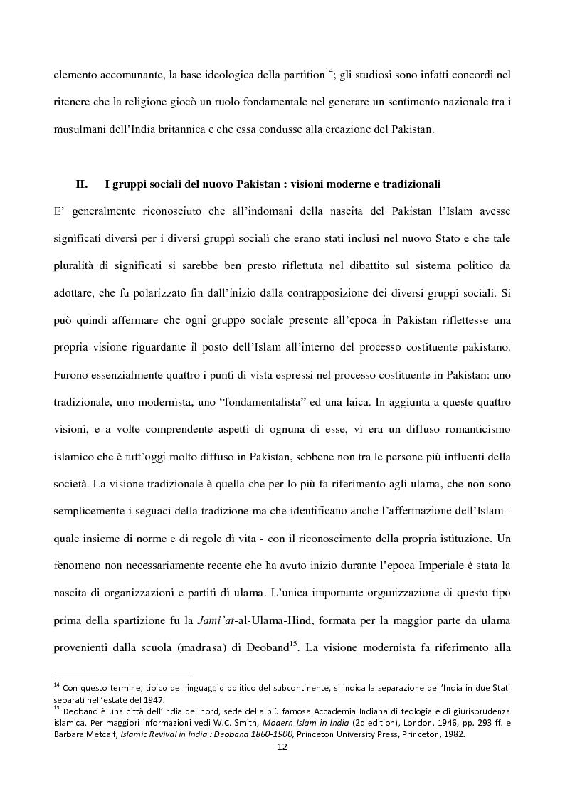 Anteprima della tesi: Islam, ideologia e sfera pubblica in Pakistan, Pagina 8