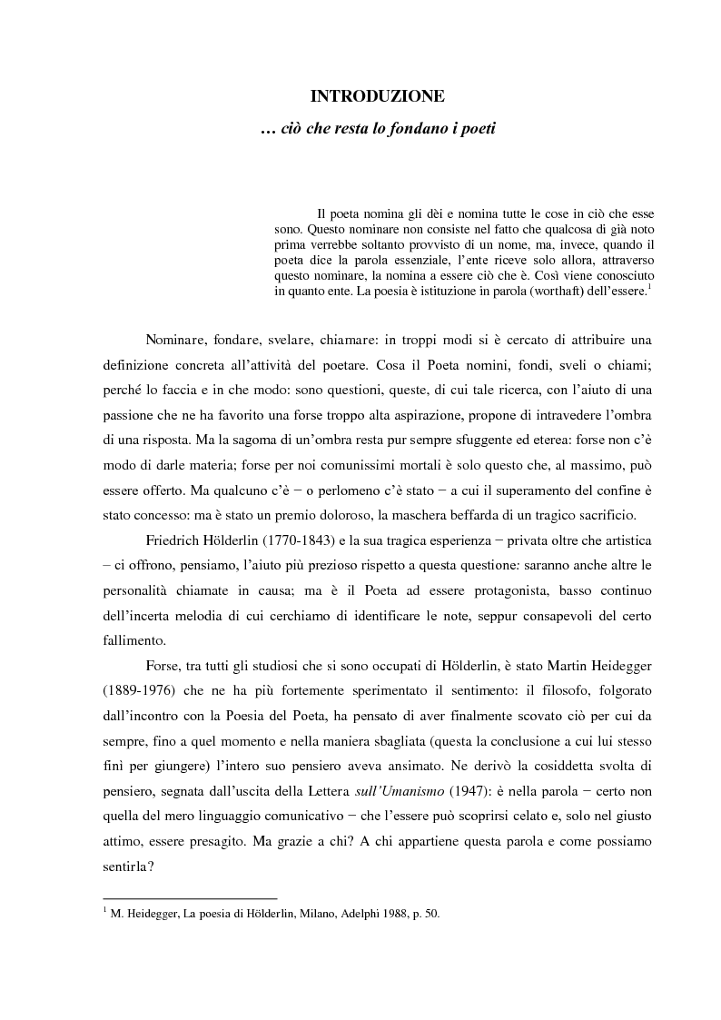 Anteprima della tesi: Il Sacrificio di Diotima: un'Anima Bella nell'Iperione di Friedrich Hoelderlin, Pagina 2