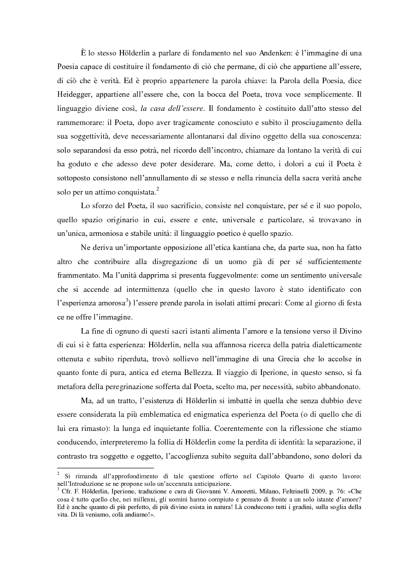 Anteprima della tesi: Il Sacrificio di Diotima: un'Anima Bella nell'Iperione di Friedrich Hoelderlin, Pagina 3