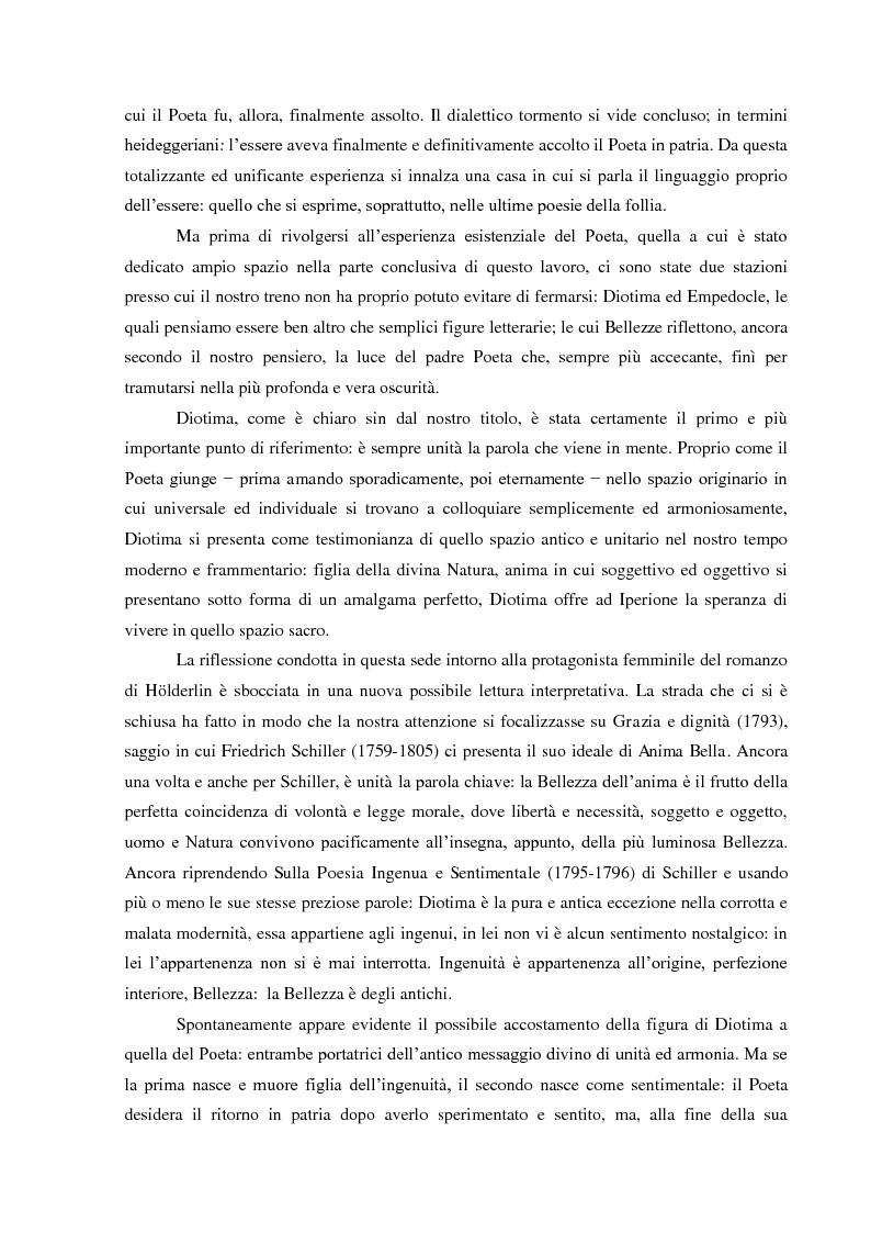 Anteprima della tesi: Il Sacrificio di Diotima: un'Anima Bella nell'Iperione di Friedrich Hoelderlin, Pagina 4