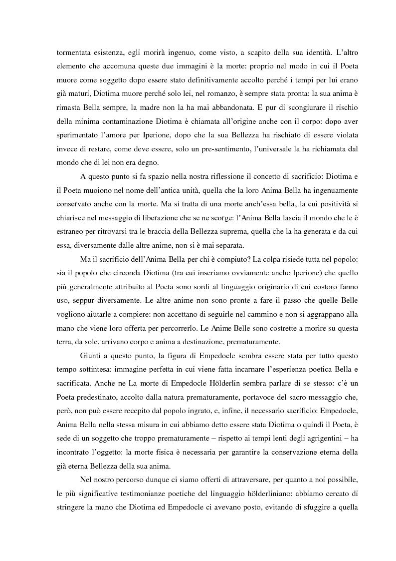 Anteprima della tesi: Il Sacrificio di Diotima: un'Anima Bella nell'Iperione di Friedrich Hoelderlin, Pagina 5