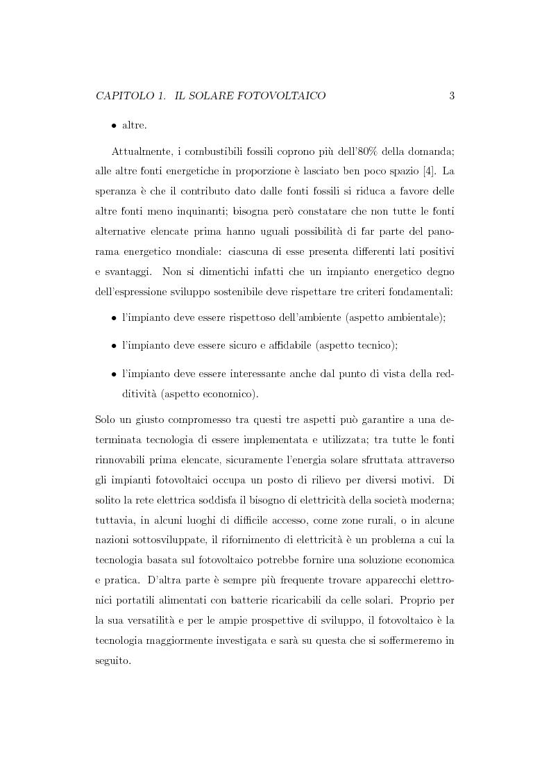 Anteprima della tesi: Caratterizzazione spettroscopica di materiali ibridi organici-inorganici per la conversione dell'energia solare, Pagina 4