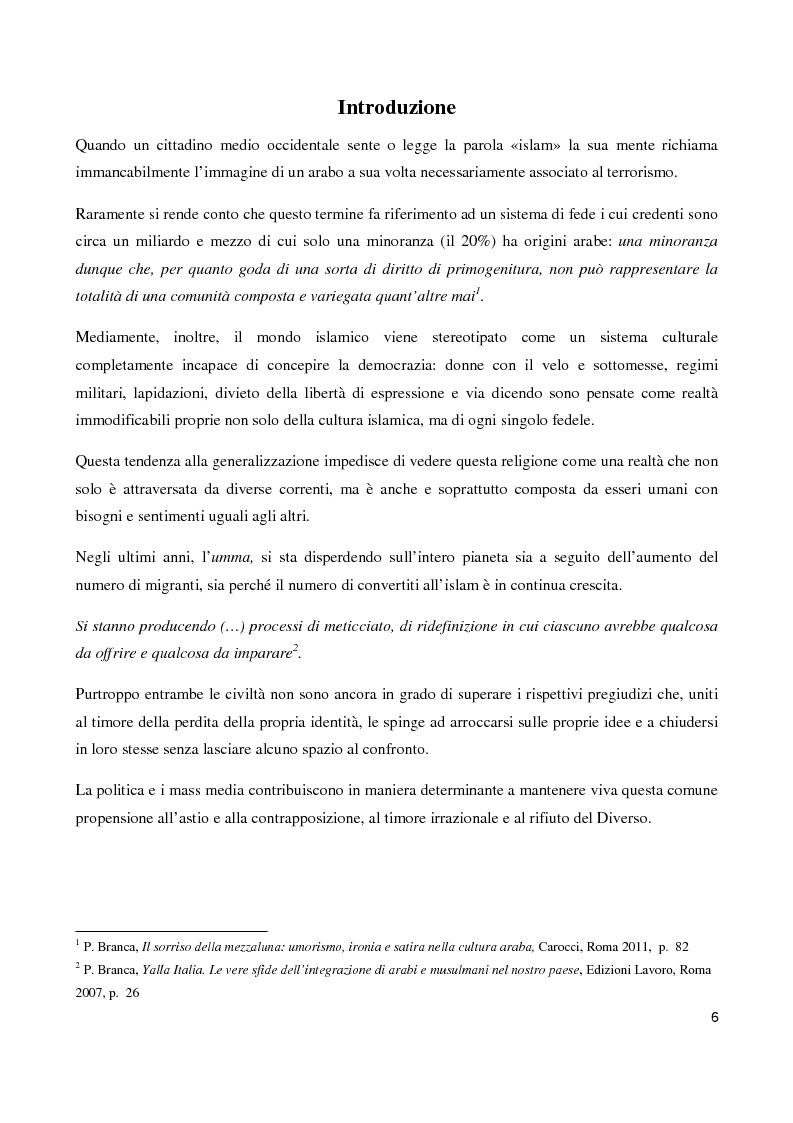 Anteprima della tesi: ''Il sorriso della Mezzaluna'': l'Islam tra stereotipi ed ironia , Pagina 2
