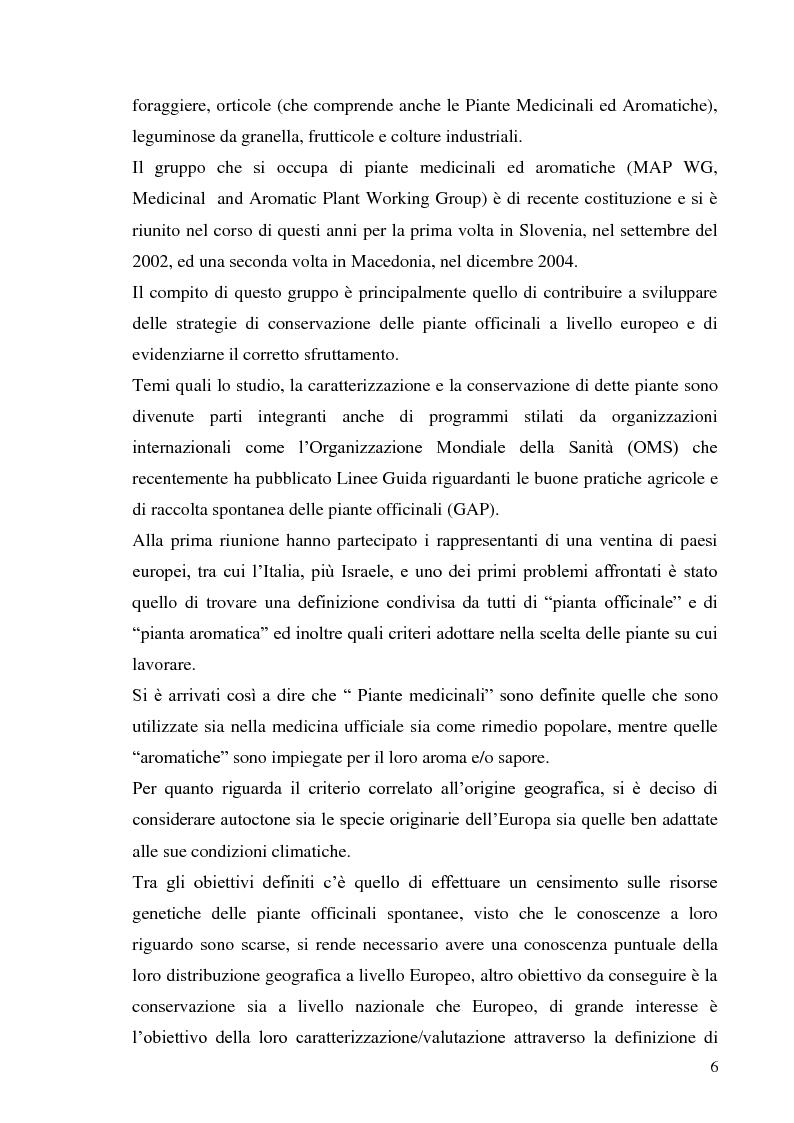 Anteprima della tesi: Indagine conoscitiva sulla flora spontanea a destinazione erboristica nel Parco Nazionale dell'Alta Murgia, Pagina 7