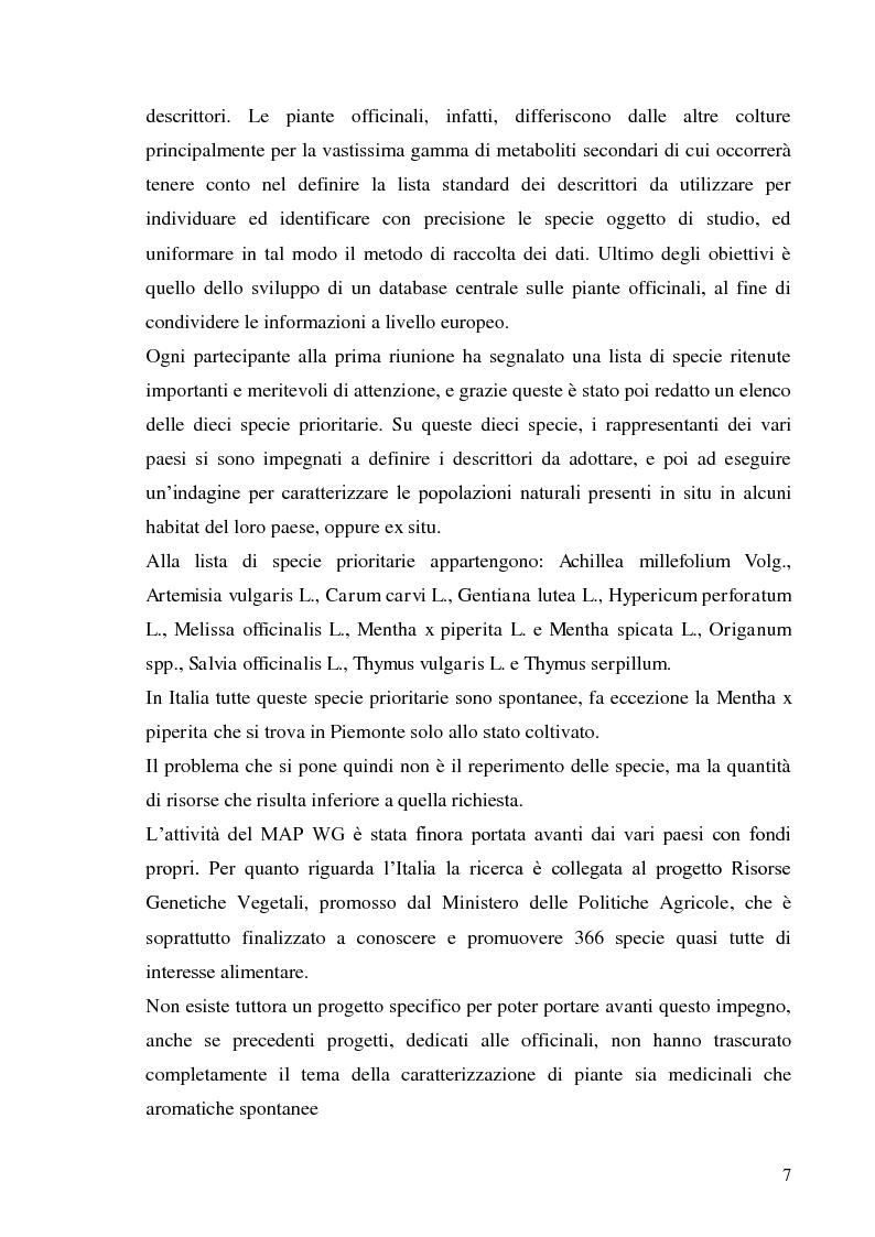 Anteprima della tesi: Indagine conoscitiva sulla flora spontanea a destinazione erboristica nel Parco Nazionale dell'Alta Murgia, Pagina 8
