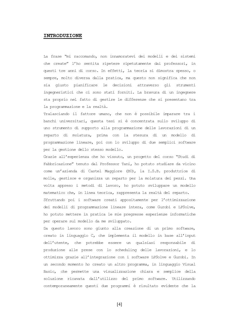 Anteprima della tesi: Scheduling delle lavorazioni in un reparto di molatura, Pagina 2