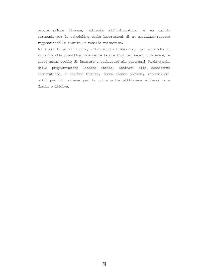 Anteprima della tesi: Scheduling delle lavorazioni in un reparto di molatura, Pagina 3