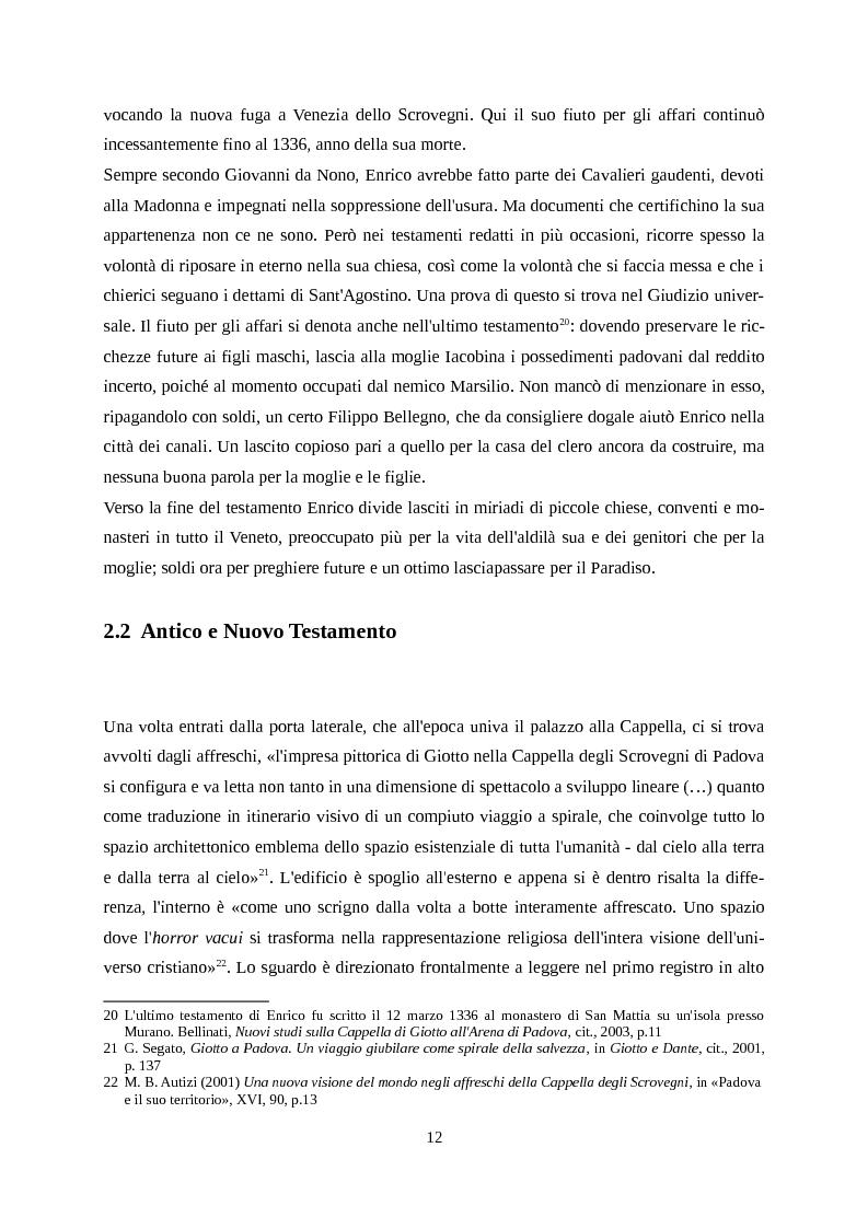 Anteprima della tesi: Giotto letto da Dante, Pagina 9