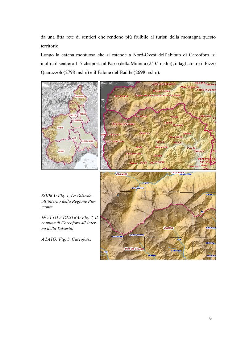 Anteprima della tesi: Progetto di itinerario ambientale e storico-culturale nel Comune di Carcoforo (Alta Valsesia), Pagina 5