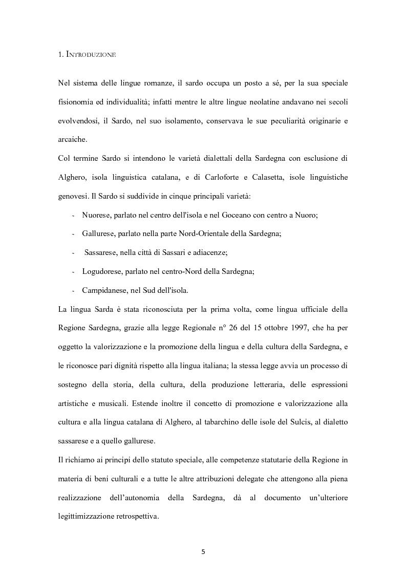 Anteprima della tesi: Sa Limba sarda e i mass Media, Pagina 2