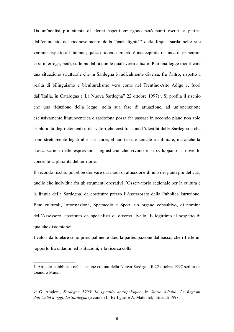 Anteprima della tesi: Sa Limba sarda e i mass Media, Pagina 3