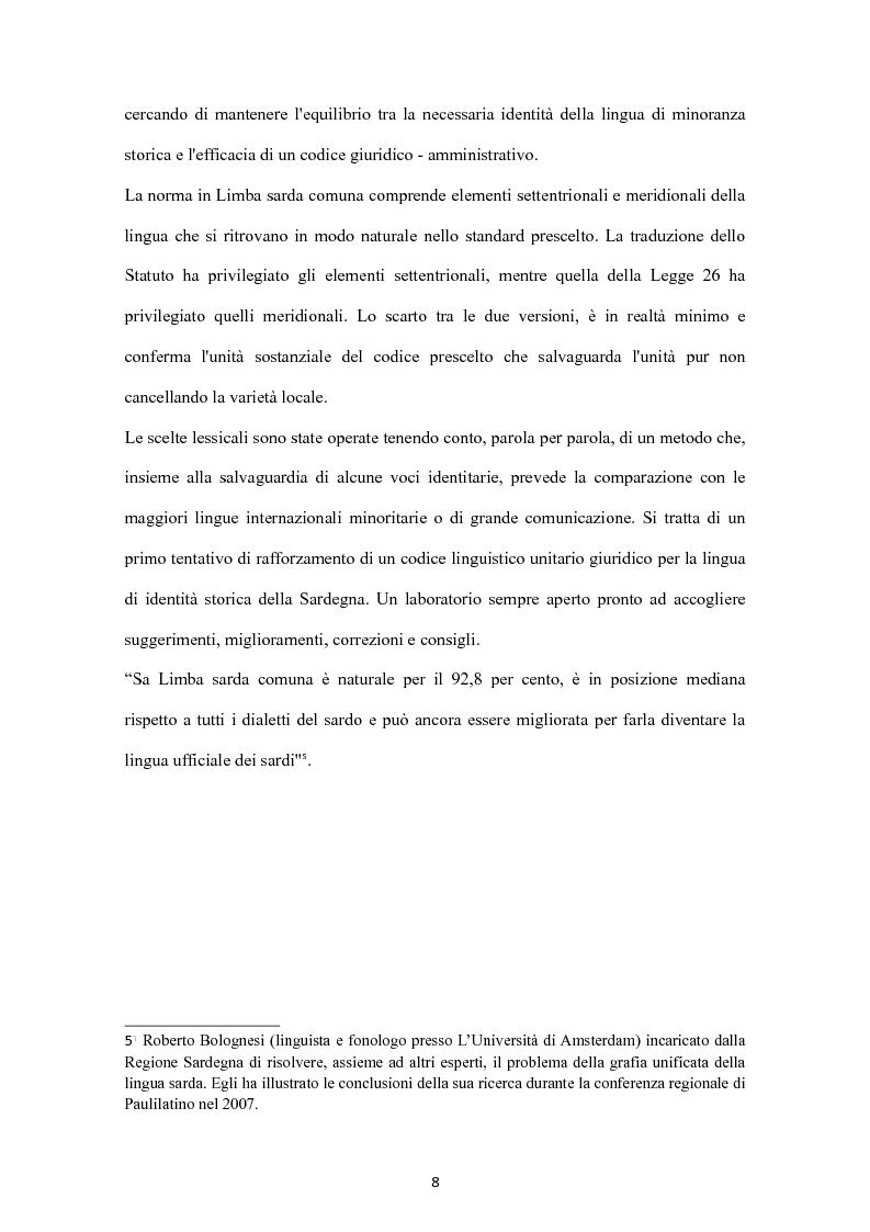 Anteprima della tesi: Sa Limba sarda e i mass Media, Pagina 5