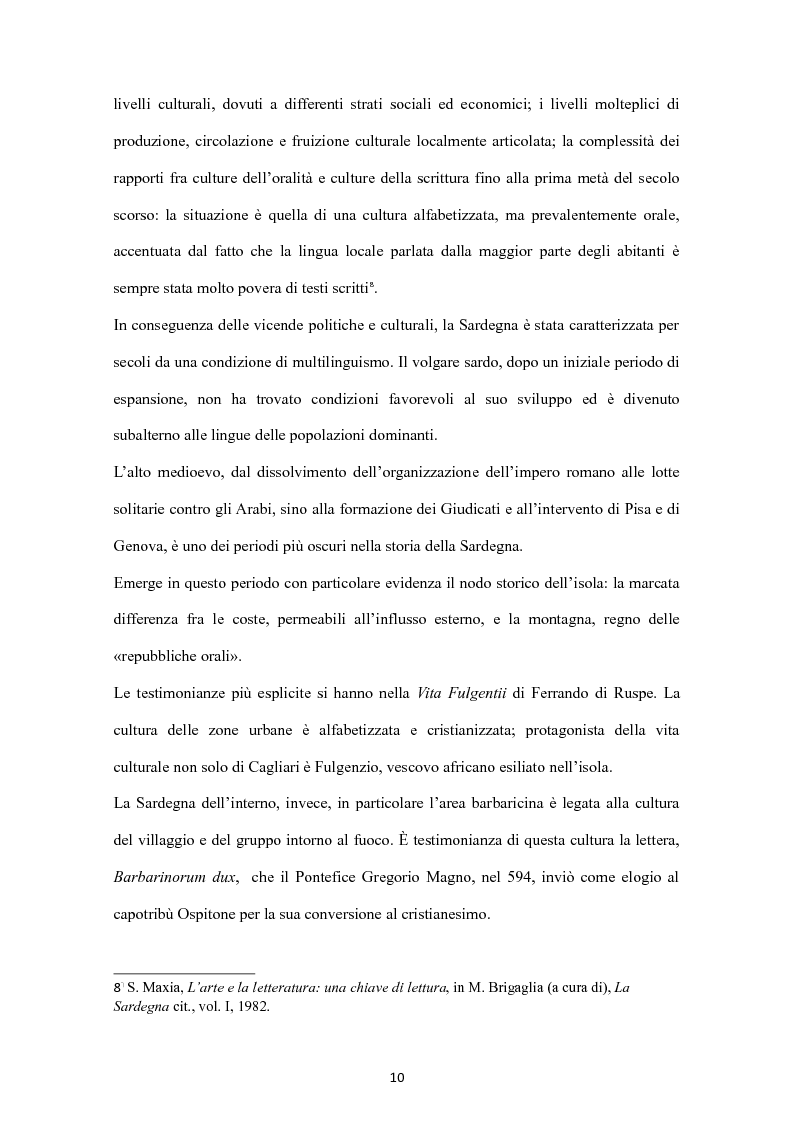 Anteprima della tesi: Sa Limba sarda e i mass Media, Pagina 7