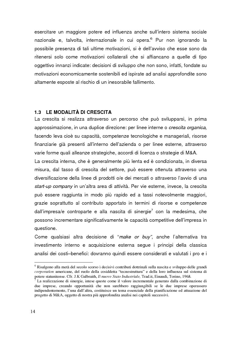 Anteprima della tesi: Le operazioni di M&A come strumento dicrescita e creazione del valore per l'impresa. Il caso Prysmian - Draka, Pagina 10