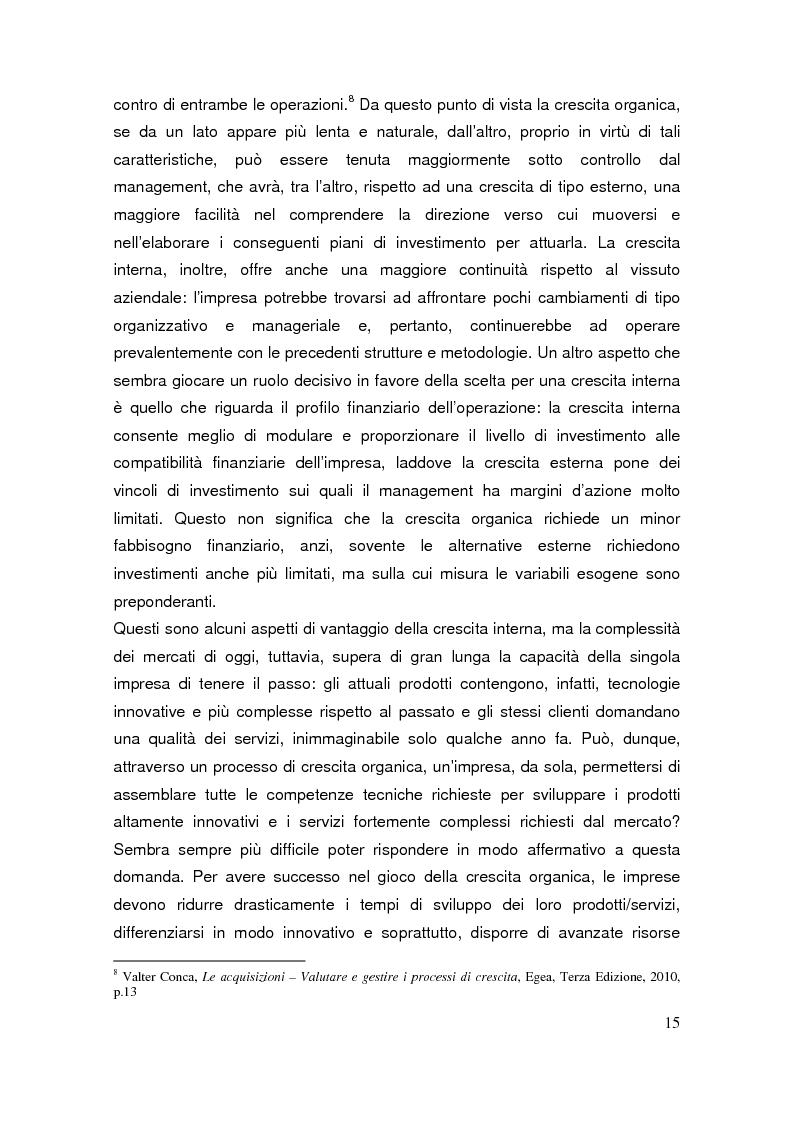 Anteprima della tesi: Le operazioni di M&A come strumento dicrescita e creazione del valore per l'impresa. Il caso Prysmian - Draka, Pagina 11