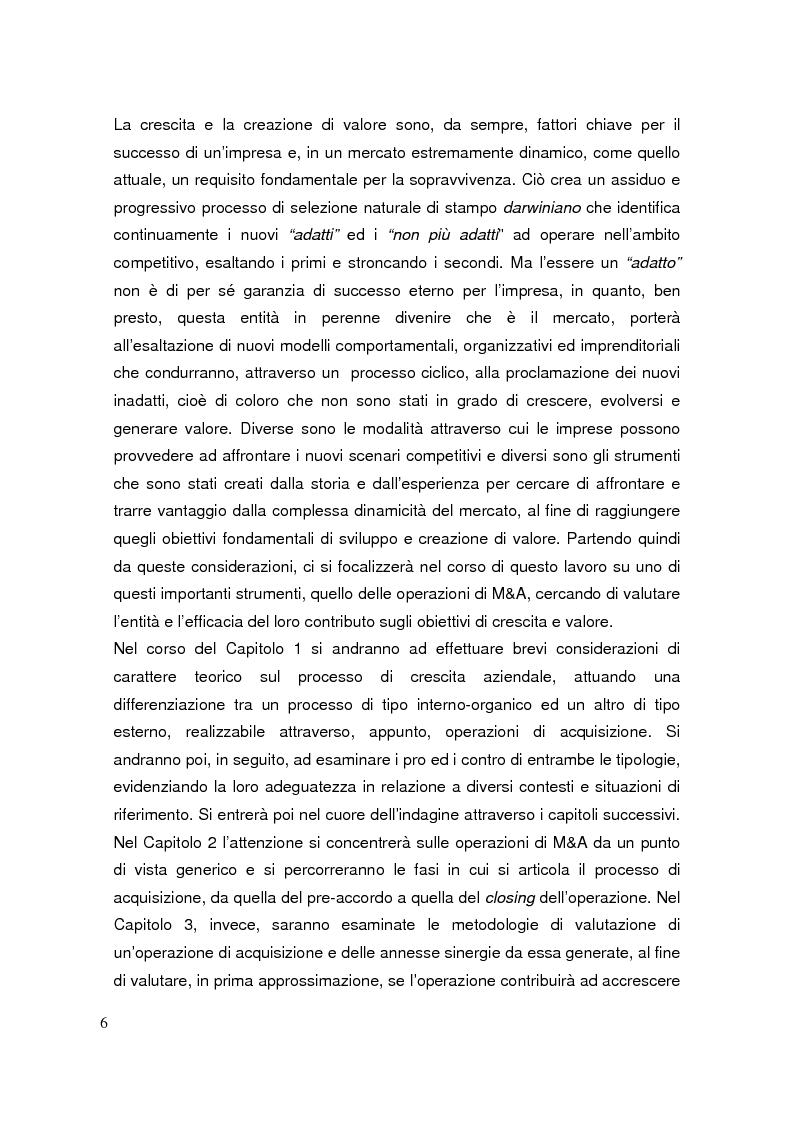 Anteprima della tesi: Le operazioni di M&A come strumento dicrescita e creazione del valore per l'impresa. Il caso Prysmian - Draka, Pagina 2