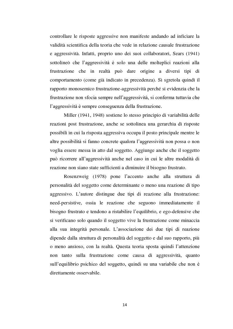 Anteprima della tesi: Aggressività e violenza ad opera dei minori: il fenomeno dei baby killer, Pagina 11