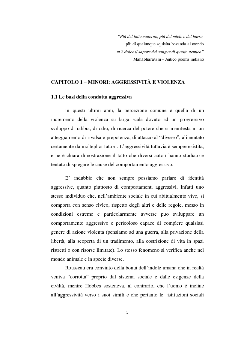 Anteprima della tesi: Aggressività e violenza ad opera dei minori: il fenomeno dei baby killer, Pagina 2