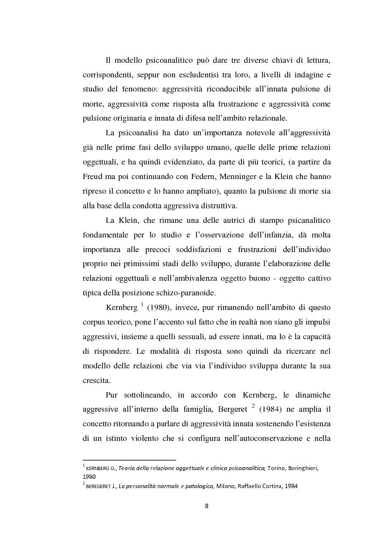 Anteprima della tesi: Aggressività e violenza ad opera dei minori: il fenomeno dei baby killer, Pagina 5