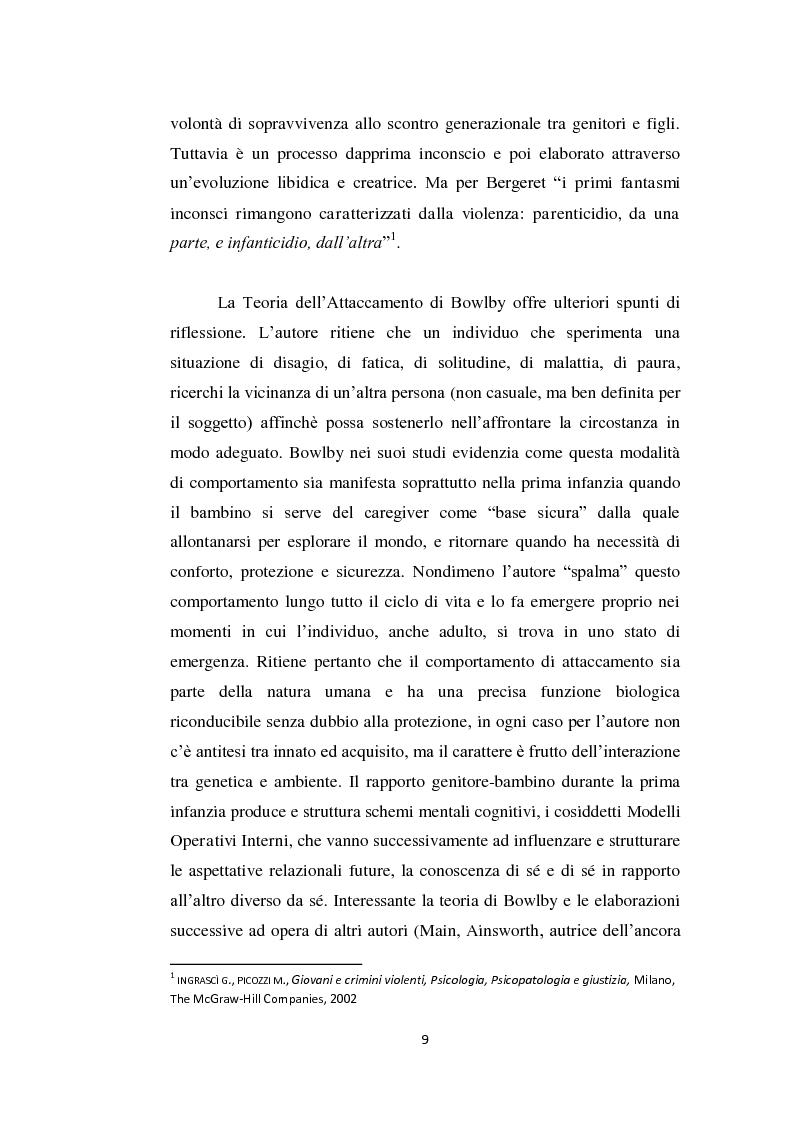 Anteprima della tesi: Aggressività e violenza ad opera dei minori: il fenomeno dei baby killer, Pagina 6