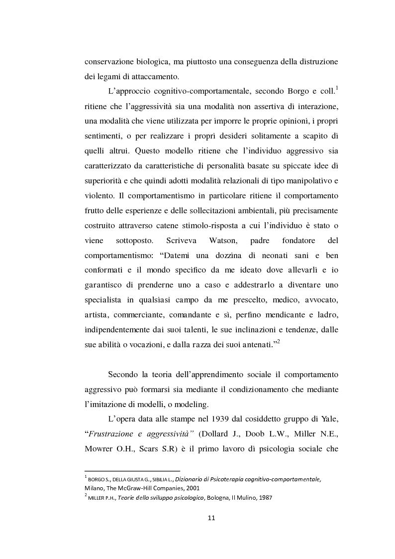 Anteprima della tesi: Aggressività e violenza ad opera dei minori: il fenomeno dei baby killer, Pagina 8