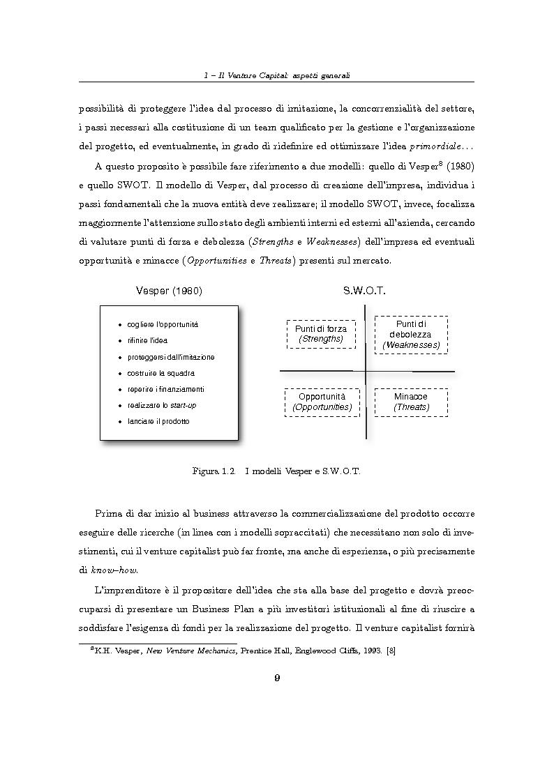 """Anteprima della tesi: Il Venture Capital. Un modello di rating per la valutazione delle """"business ideas""""., Pagina 10"""