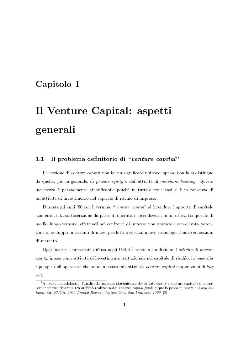 """Anteprima della tesi: Il Venture Capital. Un modello di rating per la valutazione delle """"business ideas""""., Pagina 2"""
