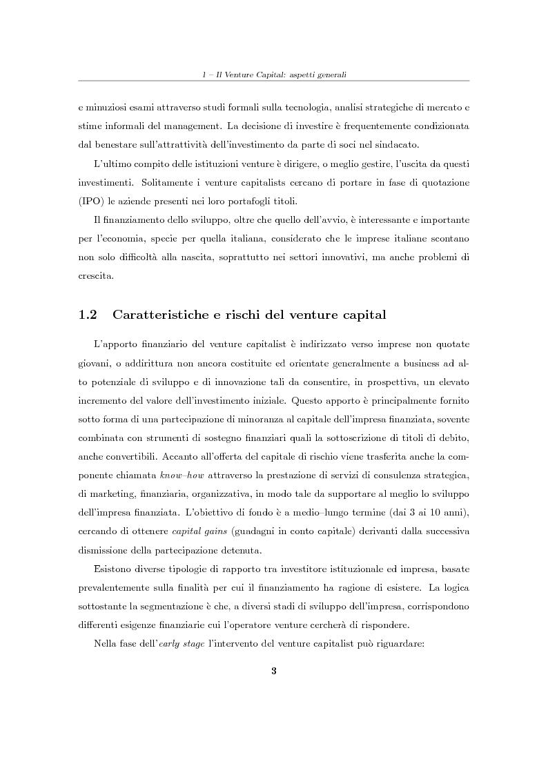 """Anteprima della tesi: Il Venture Capital. Un modello di rating per la valutazione delle """"business ideas""""., Pagina 4"""