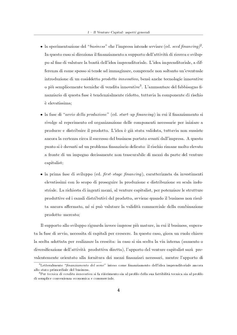 """Anteprima della tesi: Il Venture Capital. Un modello di rating per la valutazione delle """"business ideas""""., Pagina 5"""