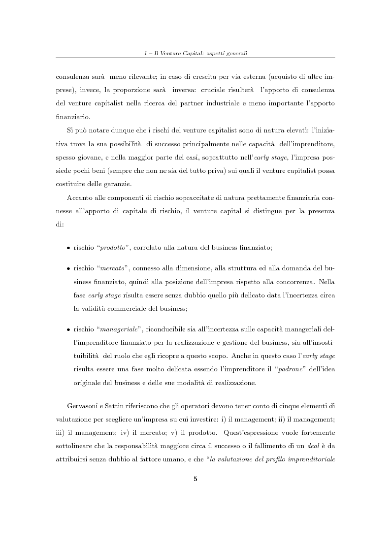 """Anteprima della tesi: Il Venture Capital. Un modello di rating per la valutazione delle """"business ideas""""., Pagina 6"""