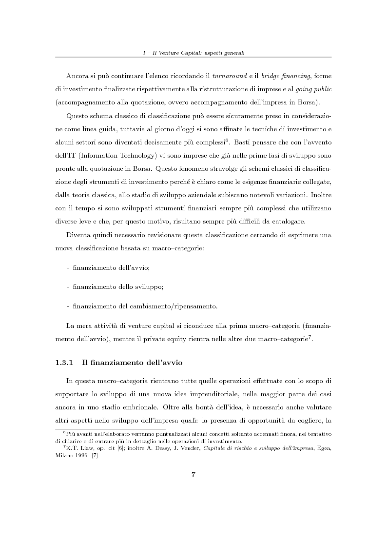 """Anteprima della tesi: Il Venture Capital. Un modello di rating per la valutazione delle """"business ideas""""., Pagina 8"""