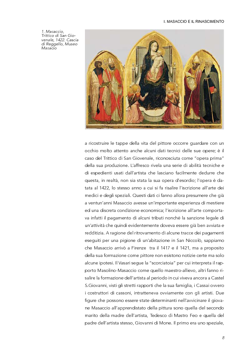 Anteprima della tesi: La Trinità di Masaccio: l'impianto prospettico, le proporzioni perfette, Pagina 3