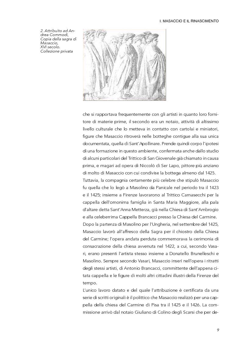 Anteprima della tesi: La Trinità di Masaccio: l'impianto prospettico, le proporzioni perfette, Pagina 4