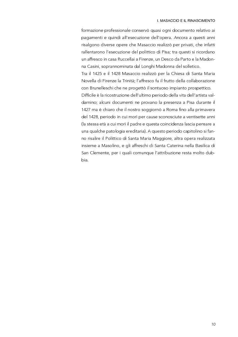 Anteprima della tesi: La Trinità di Masaccio: l'impianto prospettico, le proporzioni perfette, Pagina 5