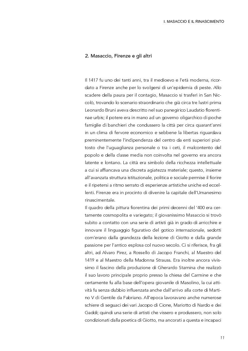 Anteprima della tesi: La Trinità di Masaccio: l'impianto prospettico, le proporzioni perfette, Pagina 6