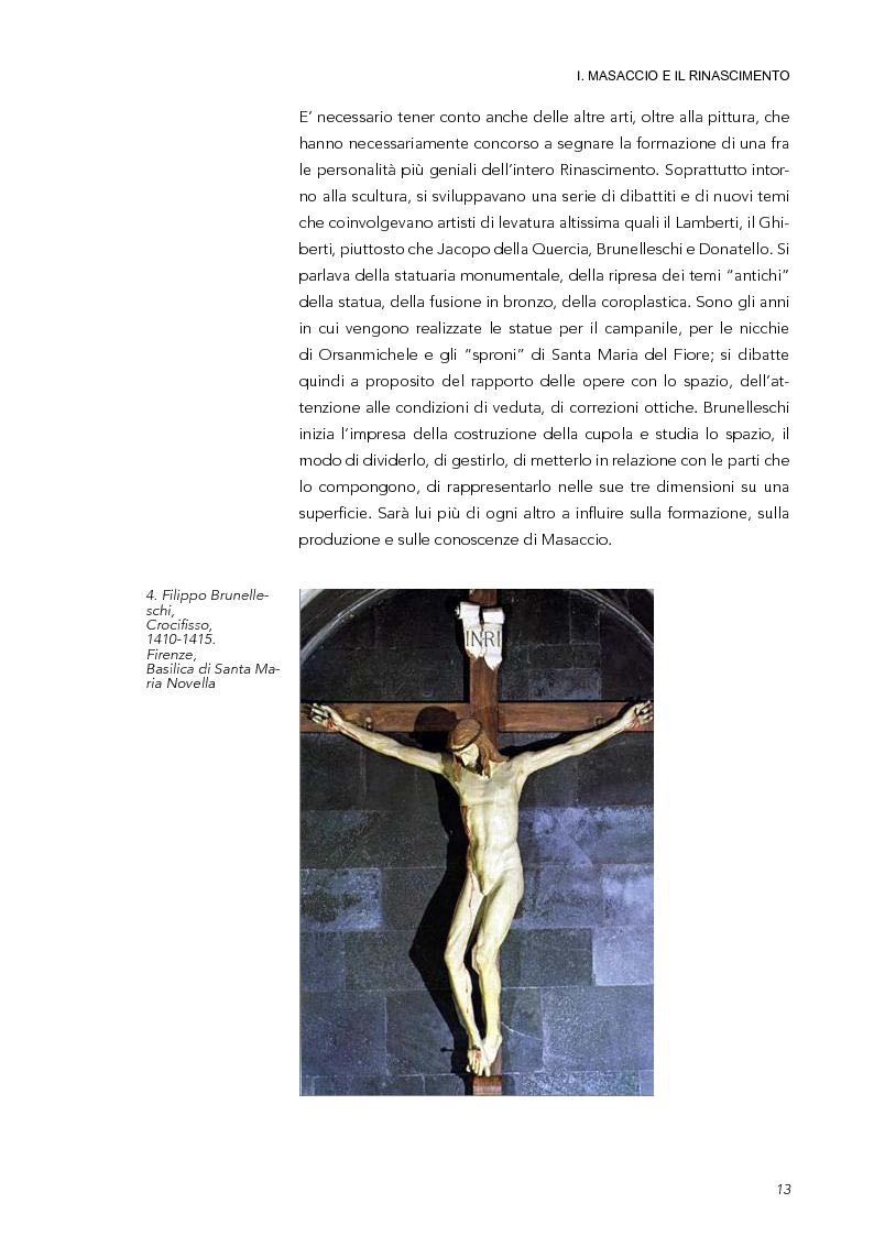 Anteprima della tesi: La Trinità di Masaccio: l'impianto prospettico, le proporzioni perfette, Pagina 8