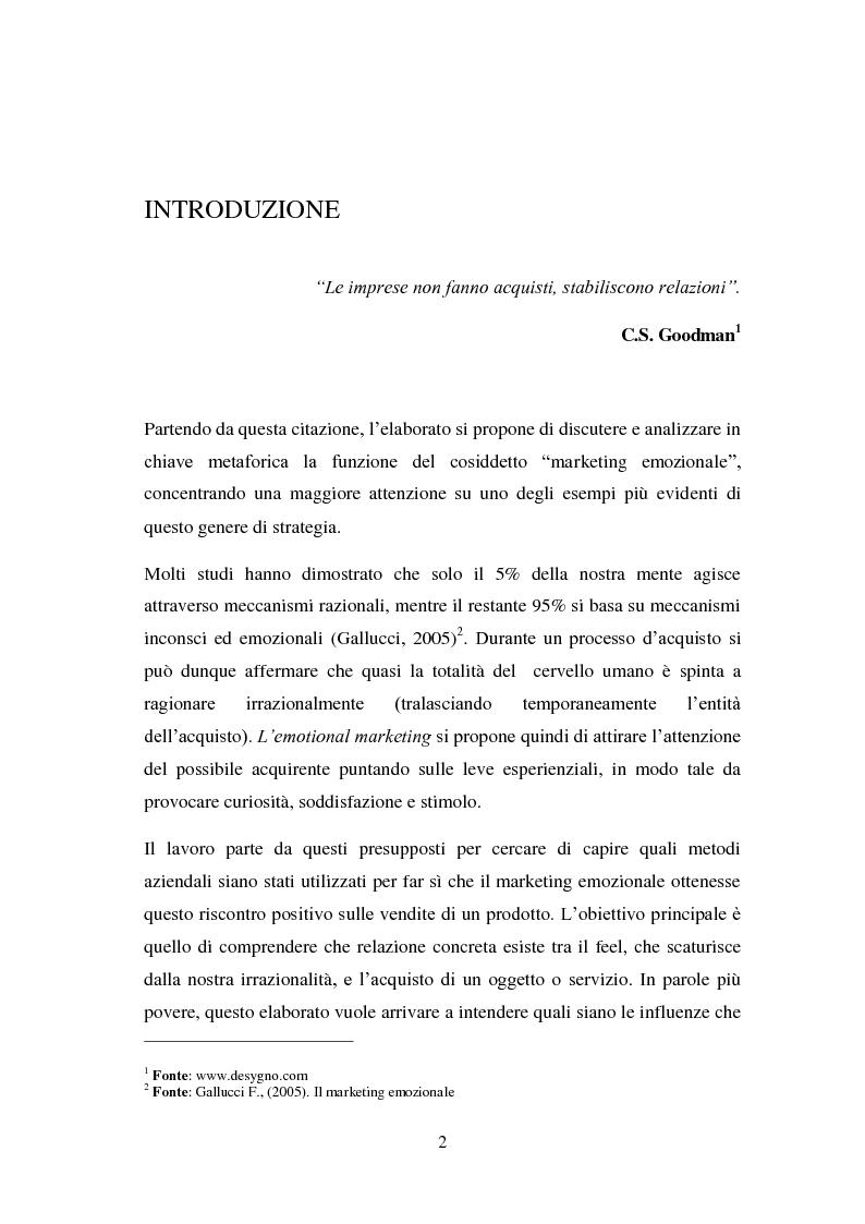 Anteprima della tesi: Il marketing emozionale: il caso Starbucks, Pagina 2