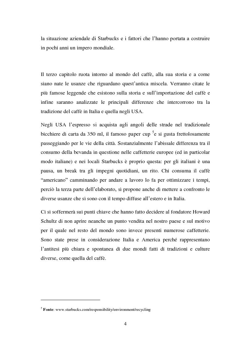 Anteprima della tesi: Il marketing emozionale: il caso Starbucks, Pagina 4