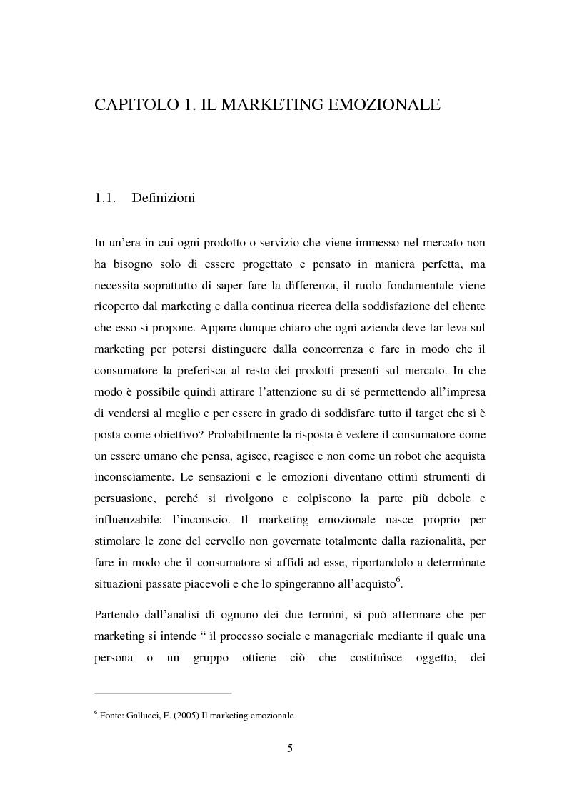 Anteprima della tesi: Il marketing emozionale: il caso Starbucks, Pagina 5