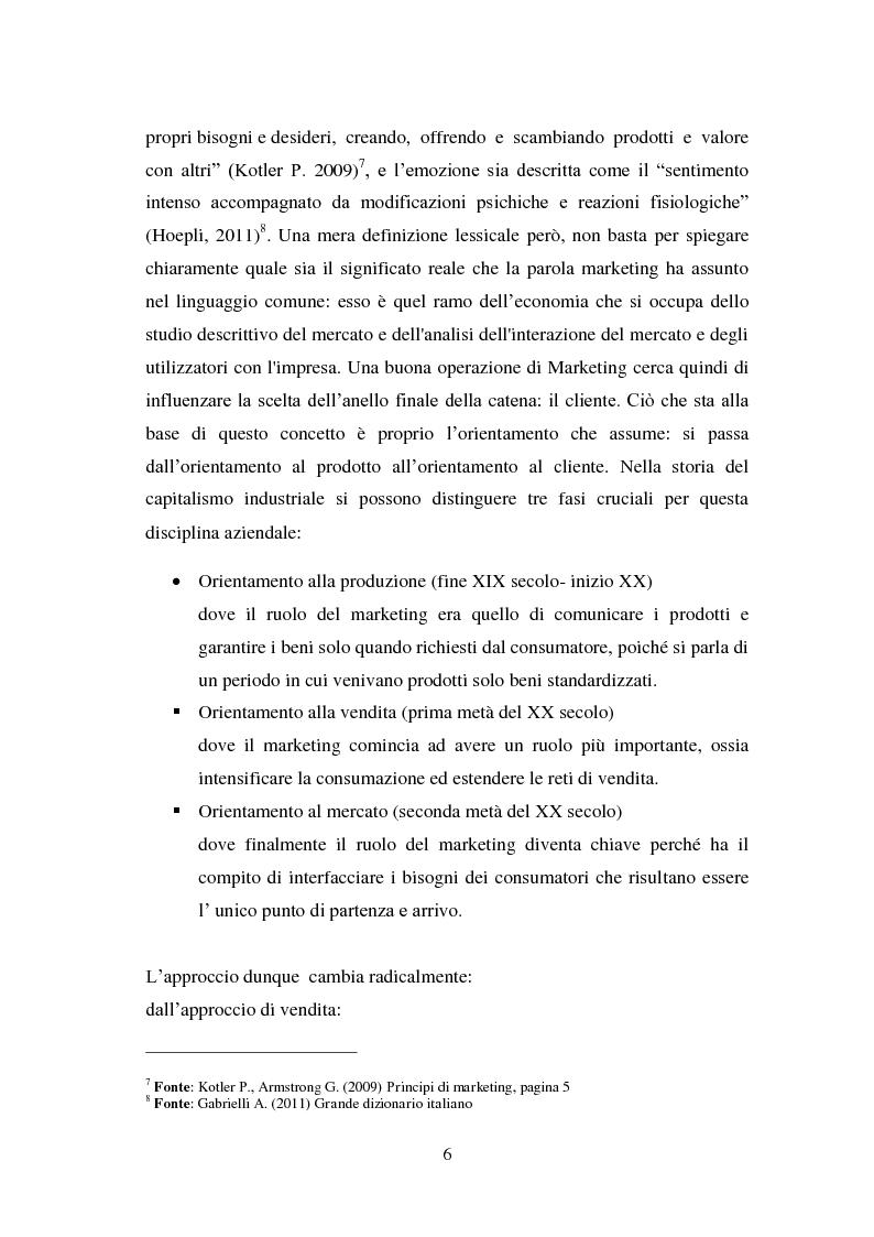 Anteprima della tesi: Il marketing emozionale: il caso Starbucks, Pagina 6