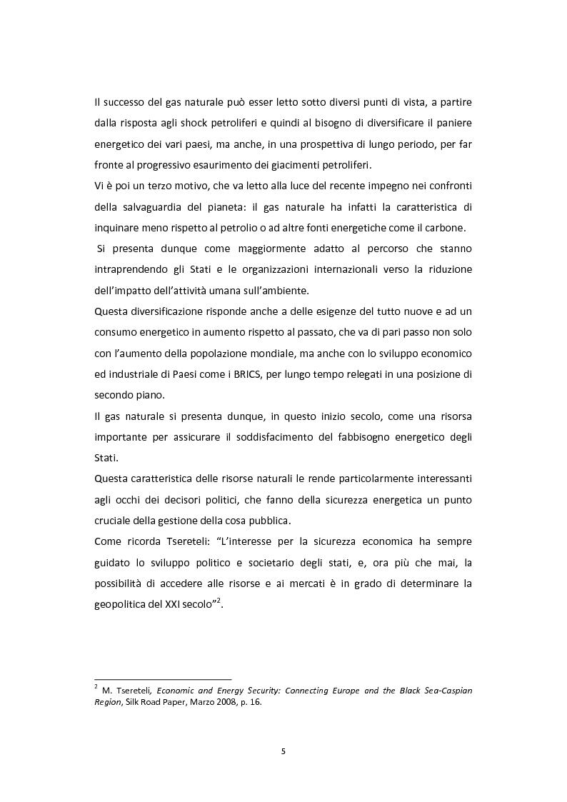 Anteprima della tesi: Dalla Via della Seta alla via del gas naturale: geopolitica e relazioni internazionali in Asia Centrale, Pagina 3