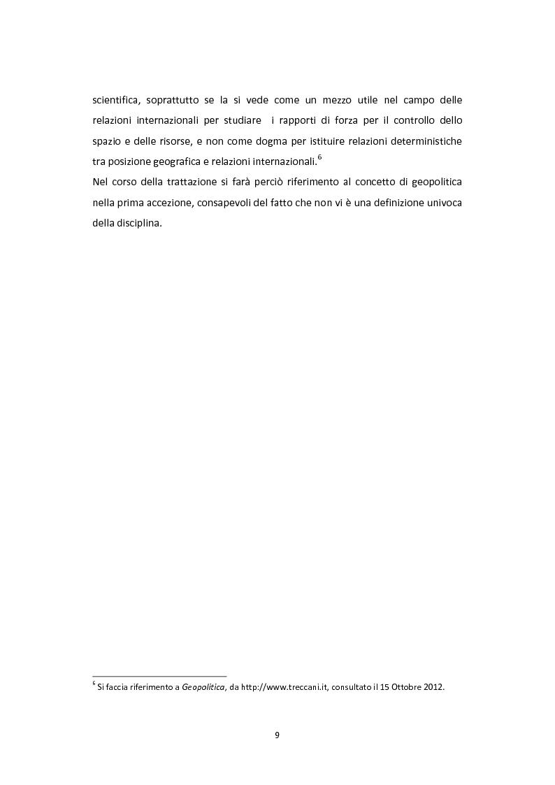 Anteprima della tesi: Dalla Via della Seta alla via del gas naturale: geopolitica e relazioni internazionali in Asia Centrale, Pagina 7