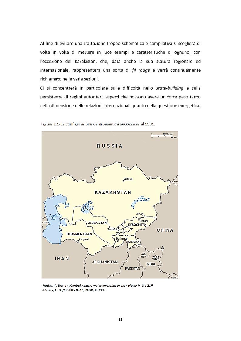 Anteprima della tesi: Dalla Via della Seta alla via del gas naturale: geopolitica e relazioni internazionali in Asia Centrale, Pagina 9