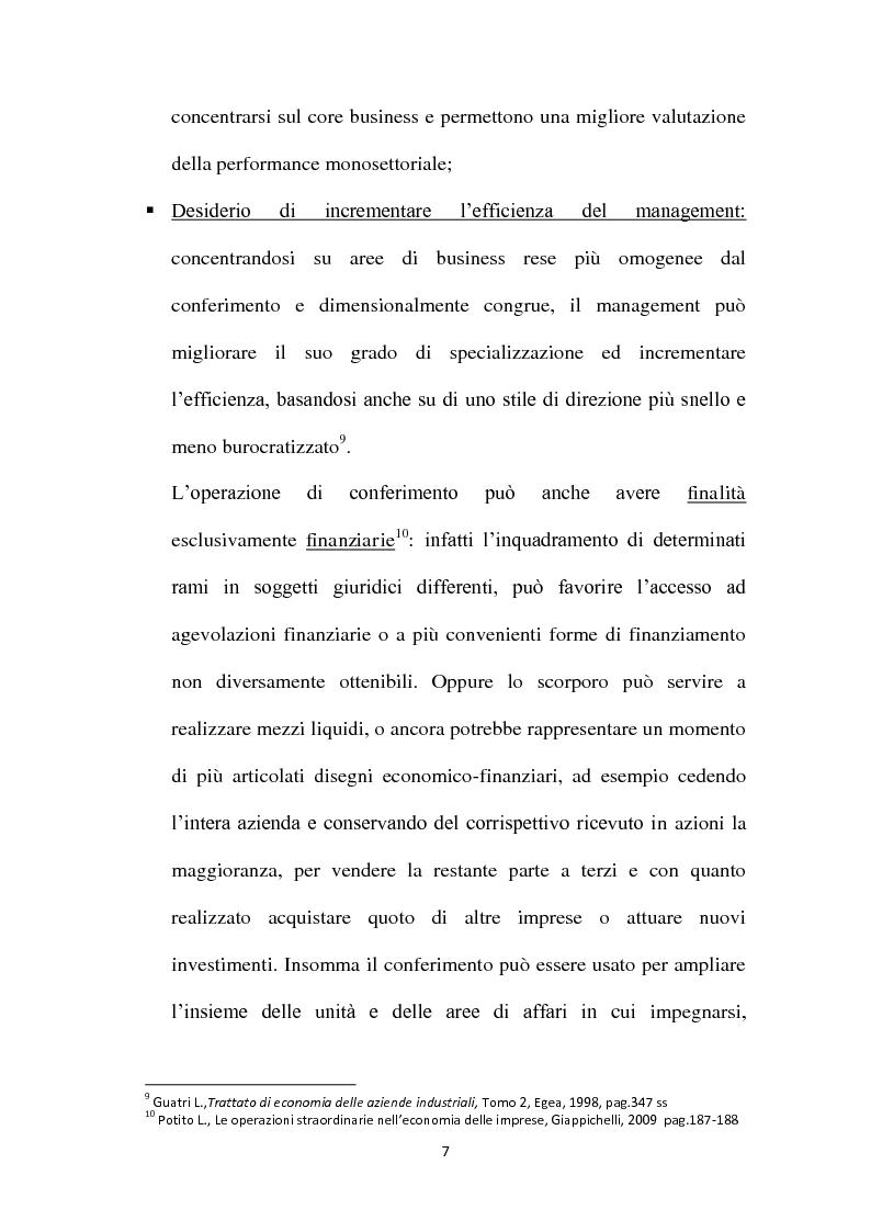 Anteprima della tesi: Il Conferimento d'azienda nella prassi contabile nazionale ed internazionale: il caso Meridiana-Eurofly, Pagina 12