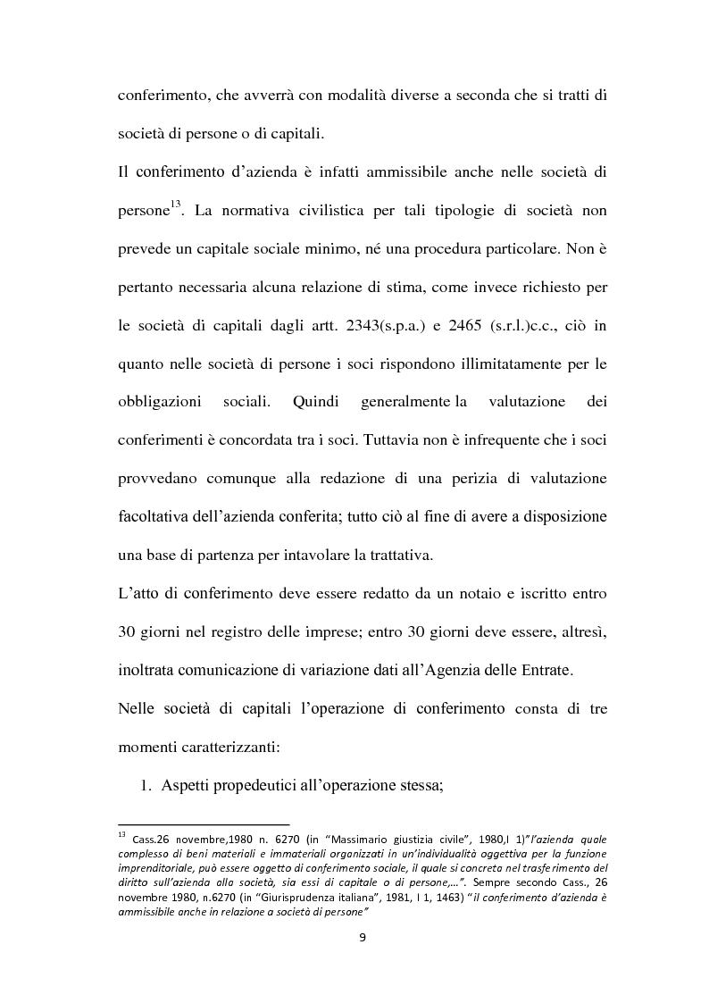 Anteprima della tesi: Il Conferimento d'azienda nella prassi contabile nazionale ed internazionale: il caso Meridiana-Eurofly, Pagina 14