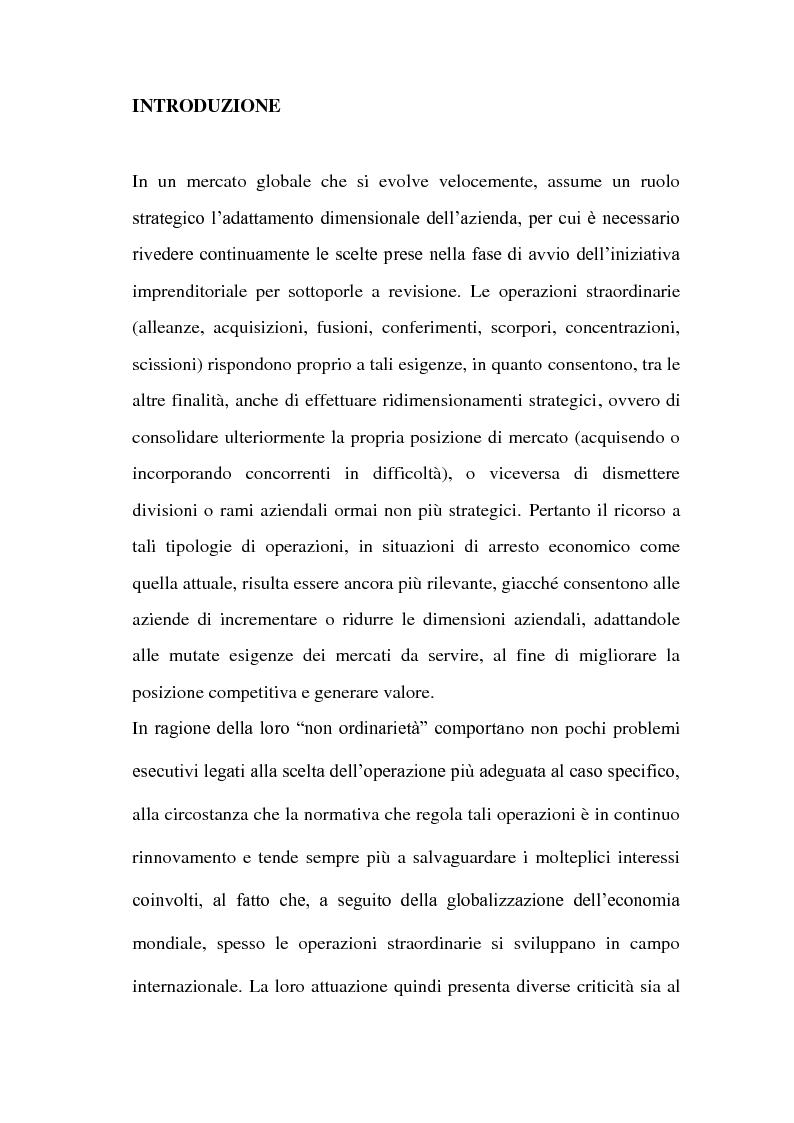 Anteprima della tesi: Il Conferimento d'azienda nella prassi contabile nazionale ed internazionale: il caso Meridiana-Eurofly, Pagina 2