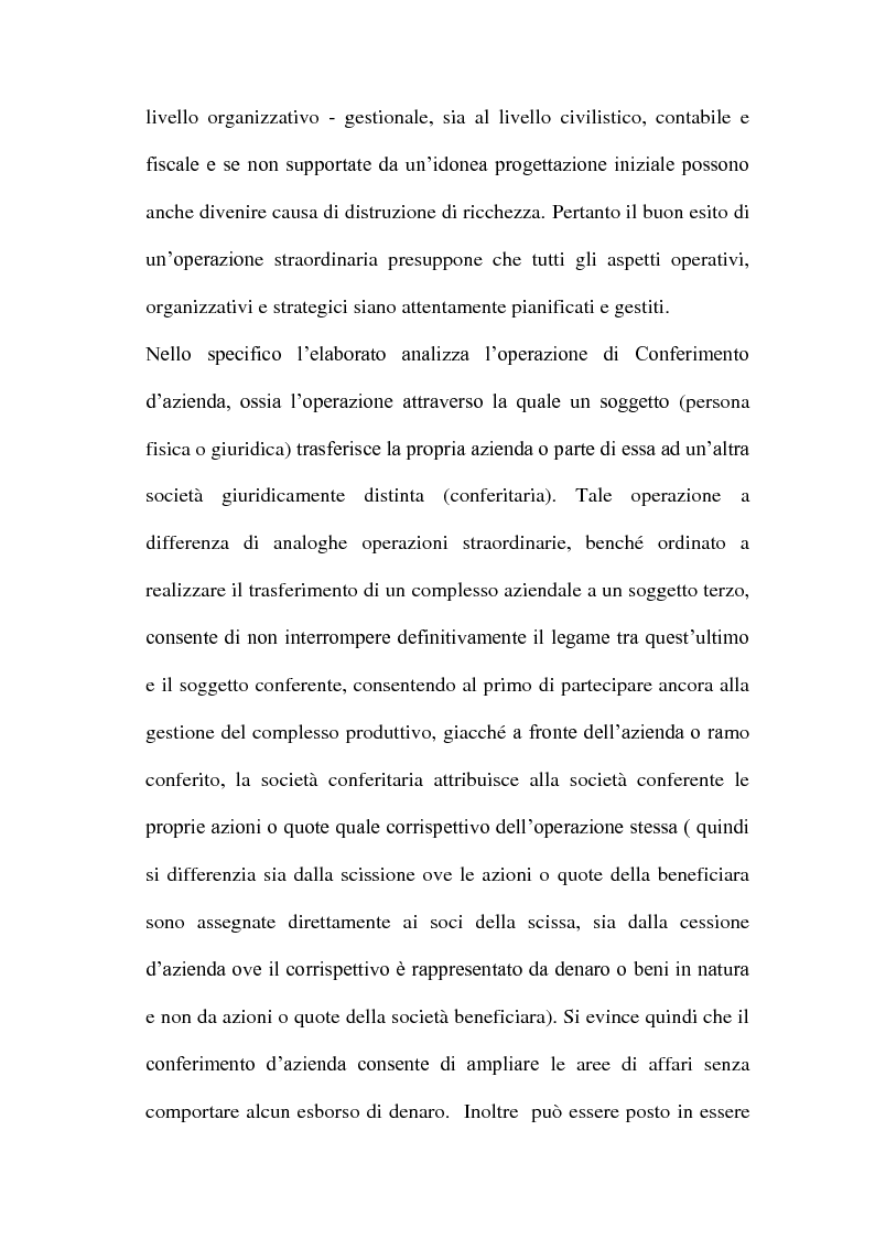 Anteprima della tesi: Il Conferimento d'azienda nella prassi contabile nazionale ed internazionale: il caso Meridiana-Eurofly, Pagina 3