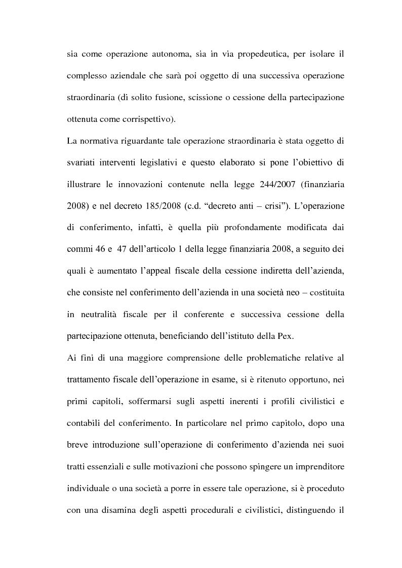 Anteprima della tesi: Il Conferimento d'azienda nella prassi contabile nazionale ed internazionale: il caso Meridiana-Eurofly, Pagina 4