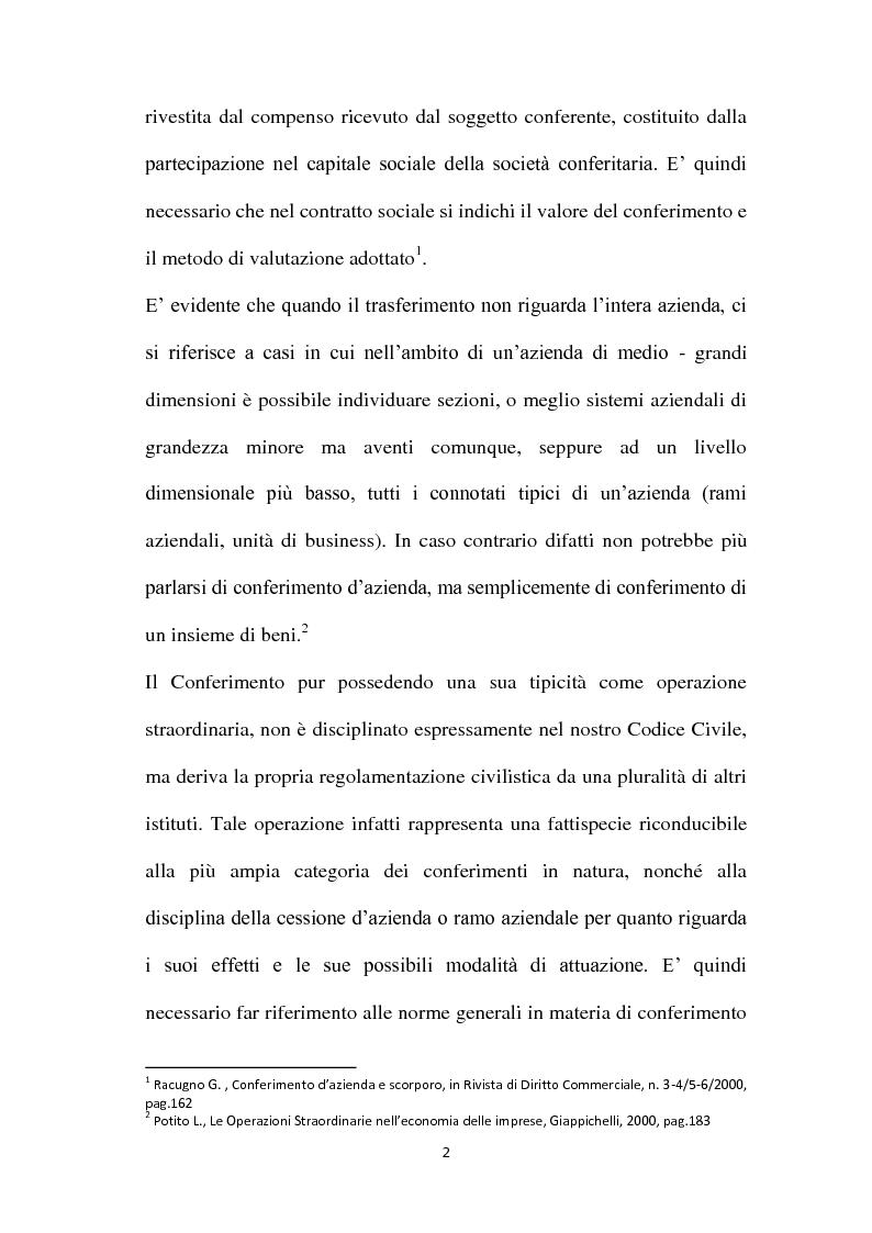 Anteprima della tesi: Il Conferimento d'azienda nella prassi contabile nazionale ed internazionale: il caso Meridiana-Eurofly, Pagina 7